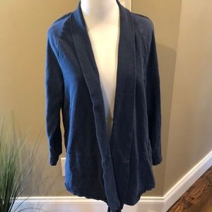 Ann Taylor LOFT SIZE XL. Blue cotton cardigan